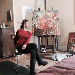 artist-studio-vermont-painter - Renée Bouchard